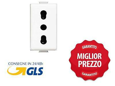 Presa Bipasso Compatibile Con Bticino Matix Am5180  Compatibile  Tipo Am5180