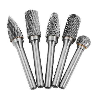 5pcs Tungsten Carbide Rotary Burr Drill Grinding Head 12mm Die Drill BI225