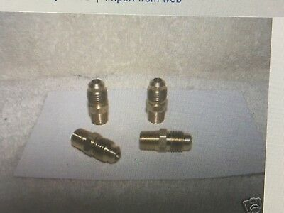 "Brass Adapters, 1/4"" Male Flare x 1/8"" Male Pipe Thread, Set of 4."