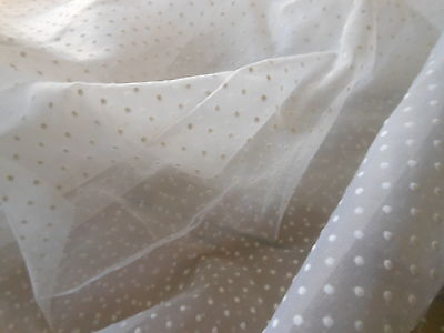 Vintage French Pure White Swiss Dot Fabric ~ projects & dolls bears