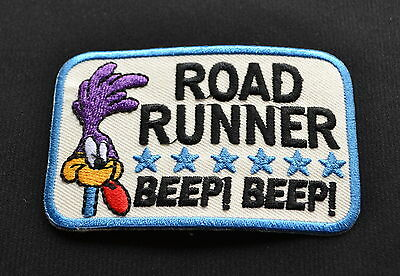 Road Runner,Patch,Vintage,Aufbügler,Aufnäher,Old School.V8,Rockabilly,Beep Beep