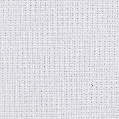 Aida 18 Count White Cross Stitch Fabric Material 100% Cotton