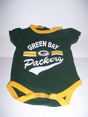 3d1b0818 GREEN BAY PACKERS Baby Girl Infant One Piece Creeper Green NFL size 0-3  months