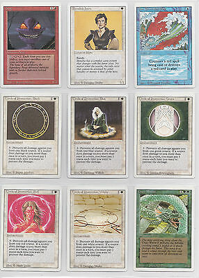 Mtg - Revised Edition - Complete 75 Card Common Set - Near Mint