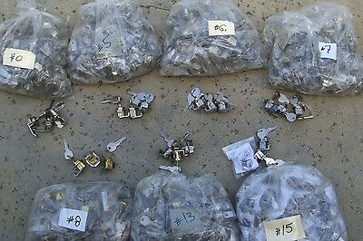 Lot of NEW 21  (3x7)  Mailbox Locks  7 different locks with 2 keys each