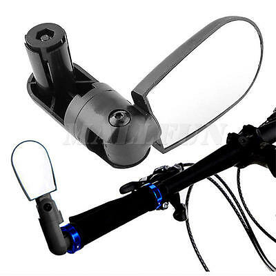 New Universal Rotate Cycling Bike Handlebar Wide Angle Rearview Back view Mirror