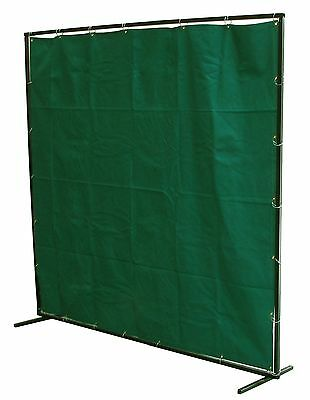 Welding Curtain 6 X 6 Ft Fibreglass Screen Flame Retardant With Frame And Rings