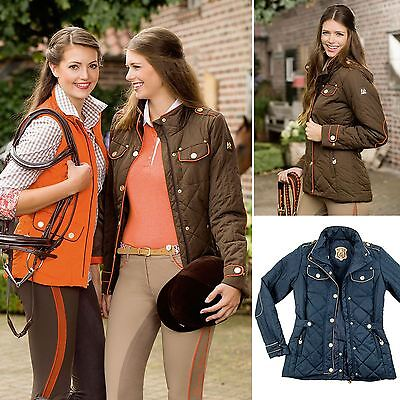 HKM Golden Gate Jacket - Ladies Classic Riders Winter Windproof Showing Jumping