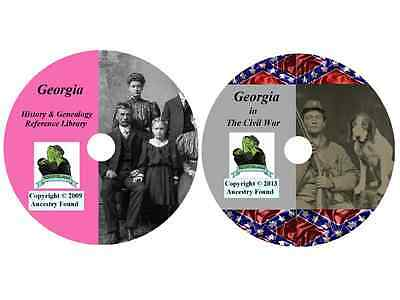 116 old books - GEORGIA  - History Genealogy Civil War Collection - DVD CD GA