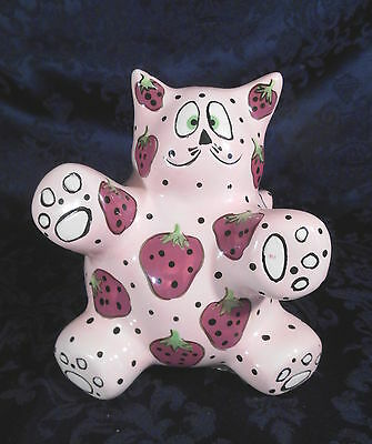 Bella Casa by Ganz Meowberry Kitty Cat Piggy Bank Signed - Signed by Pati