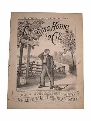 African American Sheet Music I'm Going Home to Clo Slavery Emancipation