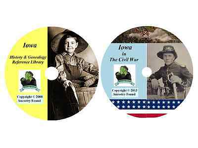 146 old books - IOWA  - History Genealogy Civil War Collection - DVD CD IA
