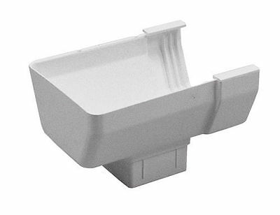GSW Euramax T0409 WHITE CONTEMPORARY END DROP DOWNSPOUT GUTTER TUFFLO AMERIMAX