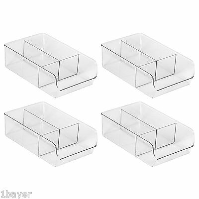 InterDesign Linus Binz 7-Inch Diameter Clear 4-Pack Large