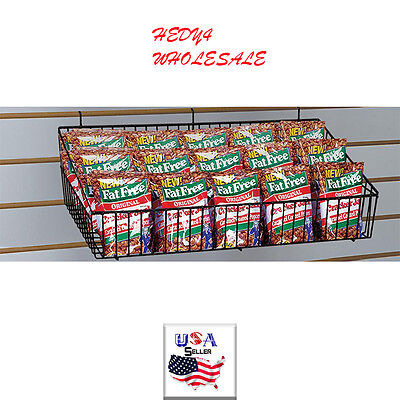 Lot Of 2 Black All Purpose Basket Slatwall Grid New Wholesale