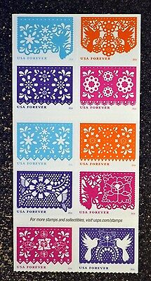 2016USA #5081-5090 Forever - Colorful Celebrations - Block of 10 From Booklet