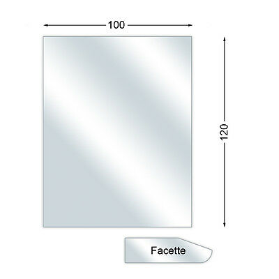Spark guard plate,Glass Base Plate with Bevel,Rectangular,6 mm high,100 x 120