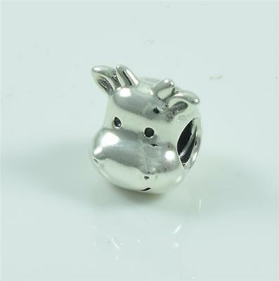 Authentic Genuine Pandora Sterling Silver Cheerful Cow Charm Bead 791748