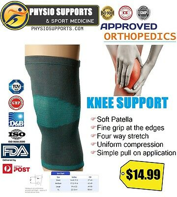 ISO Approved KNEE SUPPORT   Brace Sports Injury Pain Arthritis Relief Guard GYM