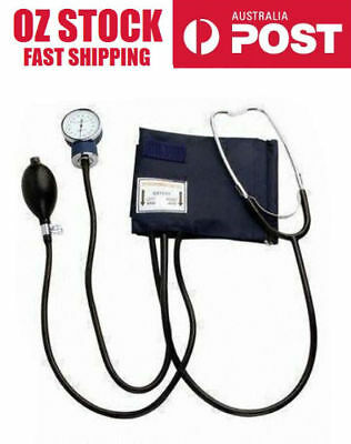 Aneriod Sphygmomanometer arm blood pressure monitor stethoscope cuff household