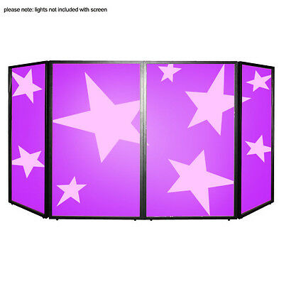 SS Foldable DJ Screen Folding Facade Front DJ Lighting Mobile Disco Booth