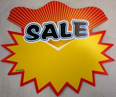 10pc cardboard sale signs Price Tag for business shop retail 6cm x7cm