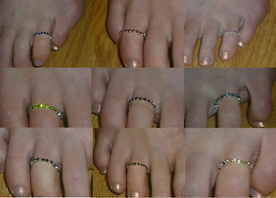 Toe Ring Rhinestone / Crystal  Various Colours *NEW*