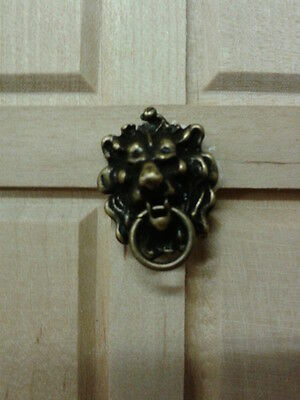 Dolls House Miniatures 1:12 Scale Antique Lion Head Knocker DIY666