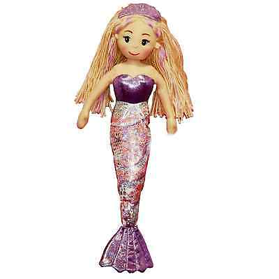 Mermaid Soft Bodied Rag Doll 45cm 3+ Months