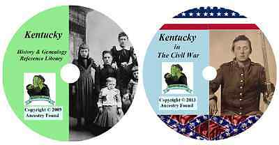 122 old books - KENTUCKY  - History Genealogy Civil War Collection - DVD CD KY