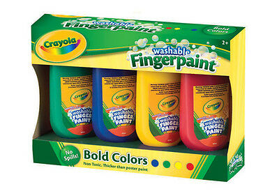 Paint Finger Crayola  My First Washable Asst Cols Pkt 4