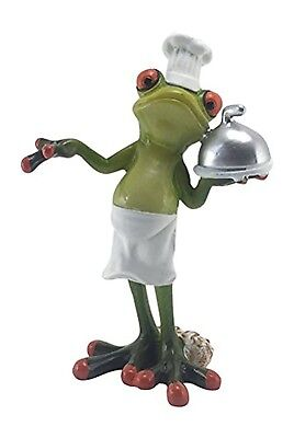"Novelty Culinary Frog  in Chef Hat - 6"" Tall - Figurine"