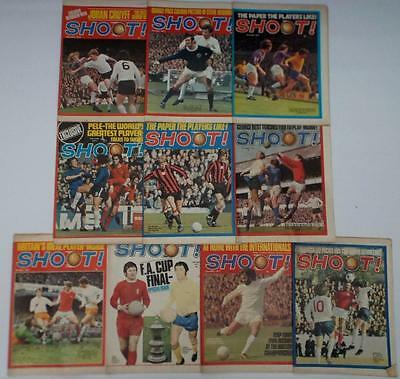 SHOOT Football Magazines 1971 x10 Arsenal,Liverpool,Chelsea,Newcastle,Brugge