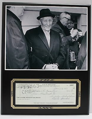 Carlo Gambino Godfather Reproduction Signed Limited Edition Check  Display