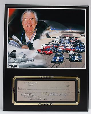 Carroll Shelby Cobra Reproduction Signed Limited Edition Check  Display