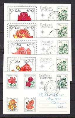 South Africa - 1980 Flower Post Cards, Antarctic Cancel