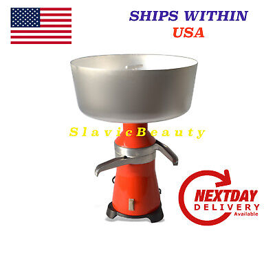 MILK CREAM SEPARATOR ELECTRIC 100L/H NEW 120V #15 metal. Ships FREE within USA