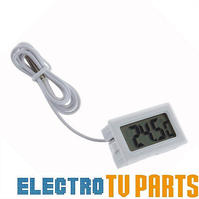 White MINI DIGITAL LCD THERMOMETER FISH TANK AQUARIUM WATER TEMPERATURE CONTROL