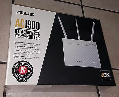 ASUS Wi-Fi Router with Data Rates up to 1900 Mbps (RT-AC68W) - New & Sealed !!