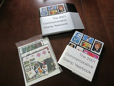 2001  USPS Commemorative Stamp Yearbook W/ Sealed MNH Stamps & Slipcover