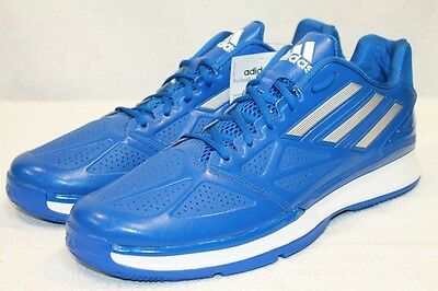 official photos 76d79 8f5b0 Nwt Adidas Performance Pro Smooth Low Blue White Sneakers Shoes Size 12.5