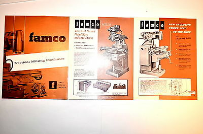 3PC FAMCO No.100 & 200 VERTICAL MILLING MACHINES Mill CATALOG  Group  RR468
