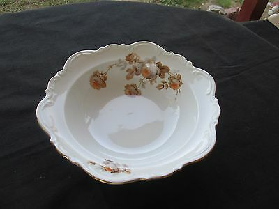 Mitterteich Bavaria Germany Norway Rose 1 Round Vegetable Serving Bowl 9 3/4""