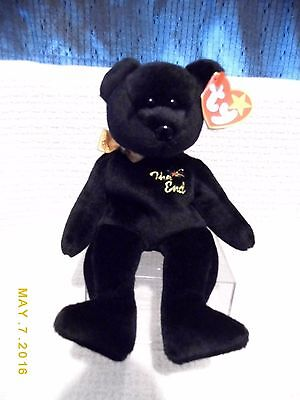 "Ty Beanie Baby- ""the End"" Bear 1999, With Error And Flat Tush Tag"