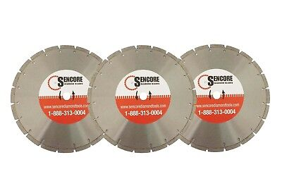"14"" Segmented Diamond Saw Blades (3pk) for Concrete Masonry + FREE SHIPPING"