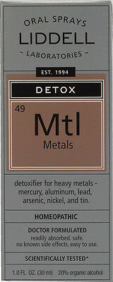 Detox: Metals, Liddell Homeopathic, 1 oz
