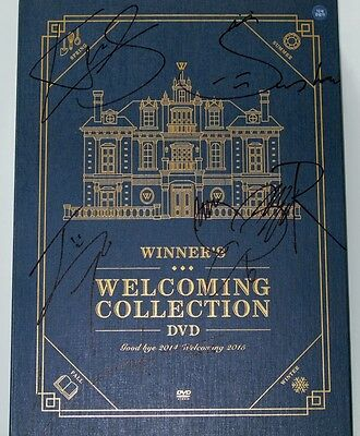 YG Winner autographed 2015  WINNER'S WELCOMING COLLECTION DVD album new korean