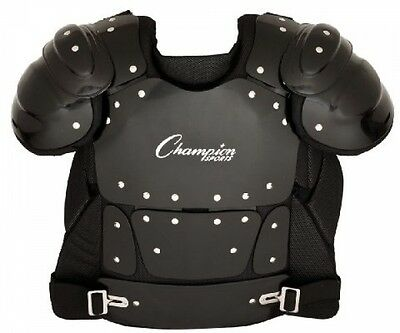 Champion Sports Umpire Chest Protector Inch 17 Black 4 Extension Breathable New