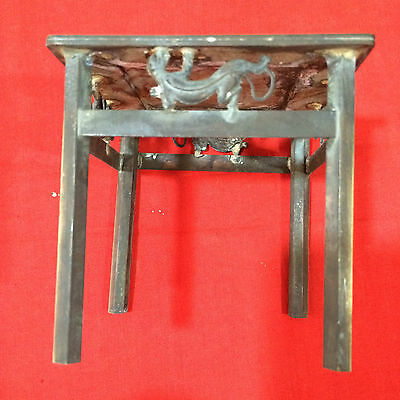 antique   China's four leg table brass dragon pattern of the republic of China.