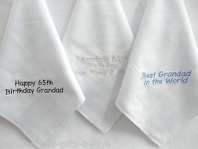 Personalised Handkerchief Choice Of Message